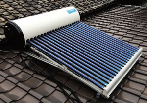 宮崎市のコトブキ光熱が販売する太陽熱ソーラー温水器の写真