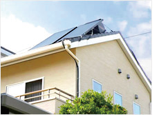 宮崎県宮崎市の太陽光、新電力、太陽熱設備のコトブキ光熱の太陽熱温水器