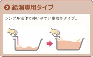 イメージ図 ボイラー 給湯専用タイプ